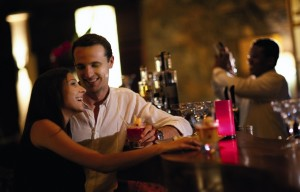 Seattle singles meeting in a bar and having a fun time with other singles in seattle.